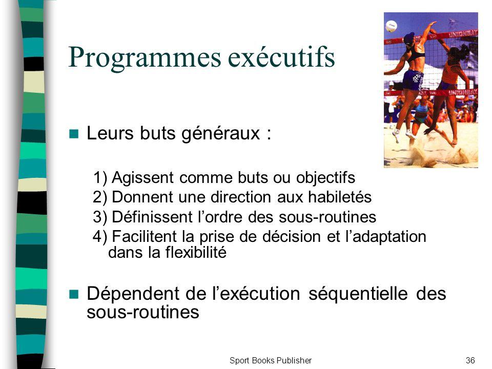 Programmes exécutifs Leurs buts généraux :