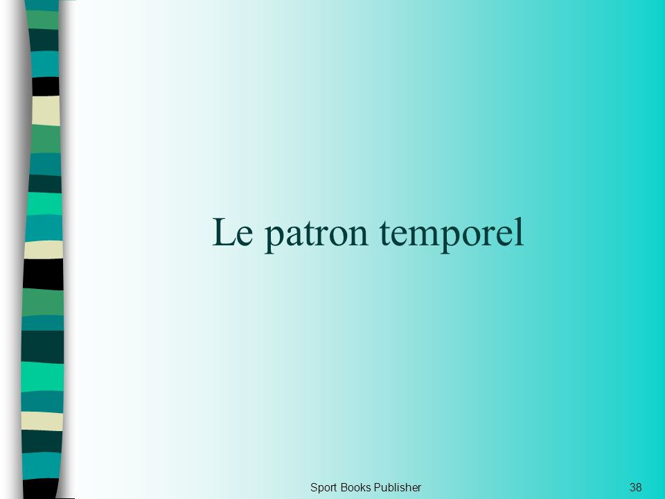 Le patron temporel Sport Books Publisher