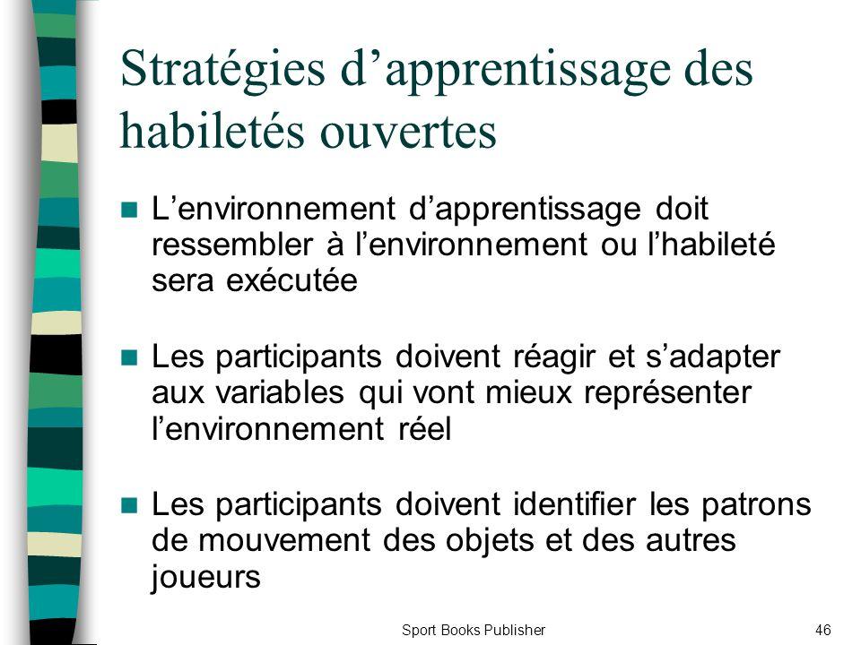 Stratégies d'apprentissage des habiletés ouvertes