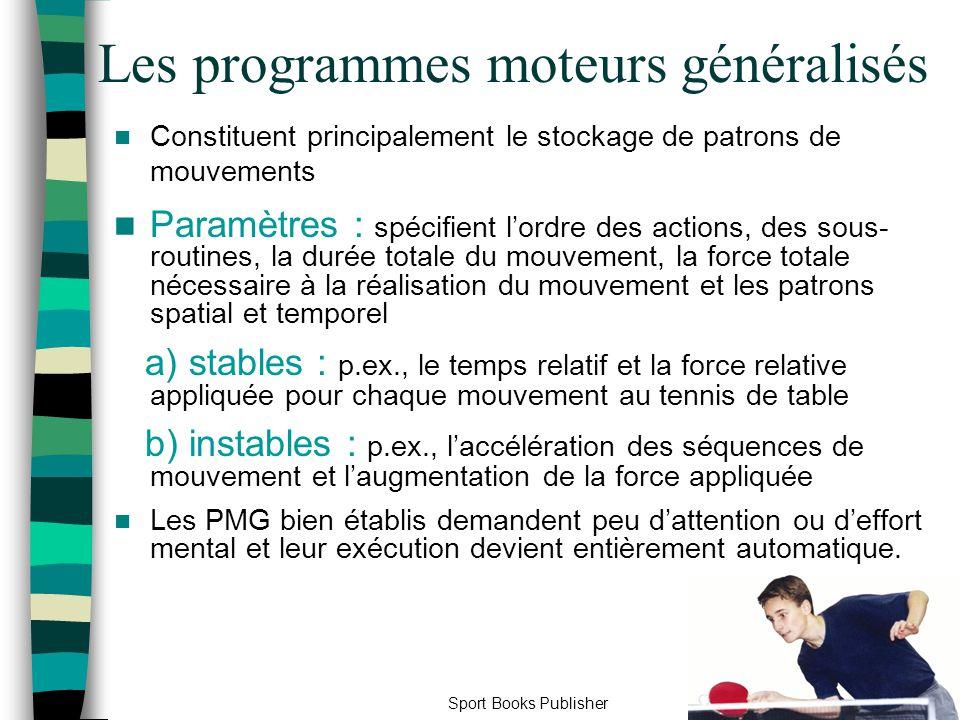 Les programmes moteurs généralisés