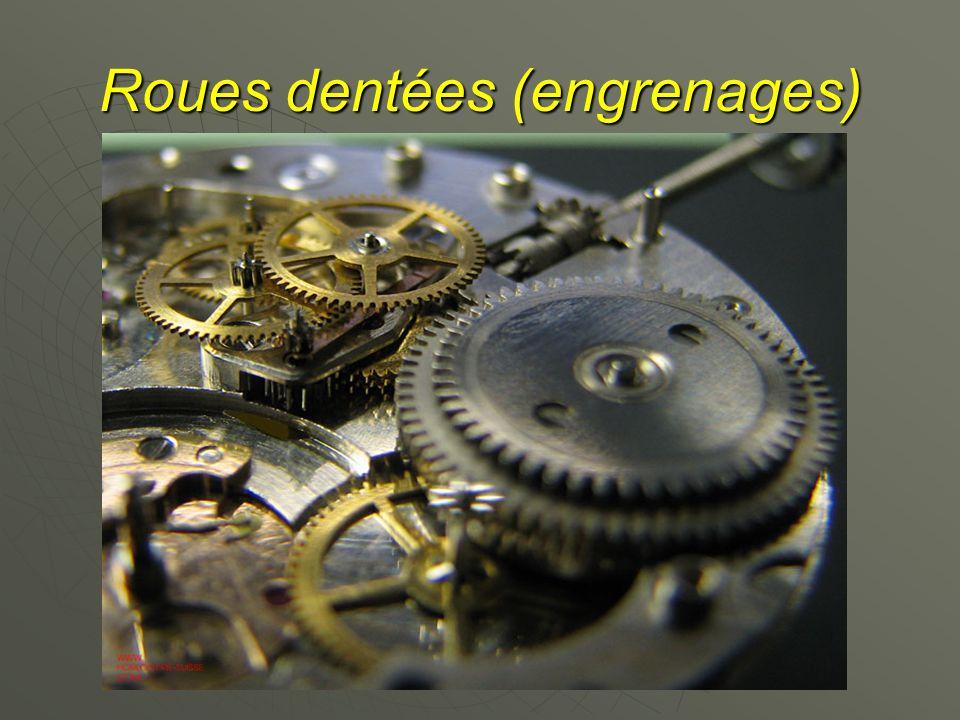Roues dentées (engrenages)