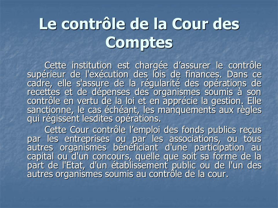 Le contrôle de la Cour des Comptes