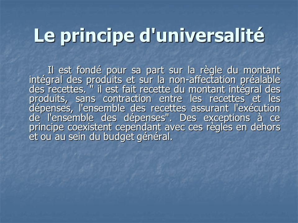 Le principe d universalité