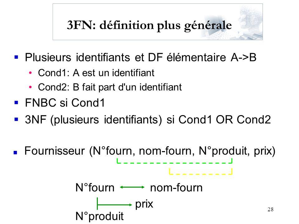 3FN: définition plus générale
