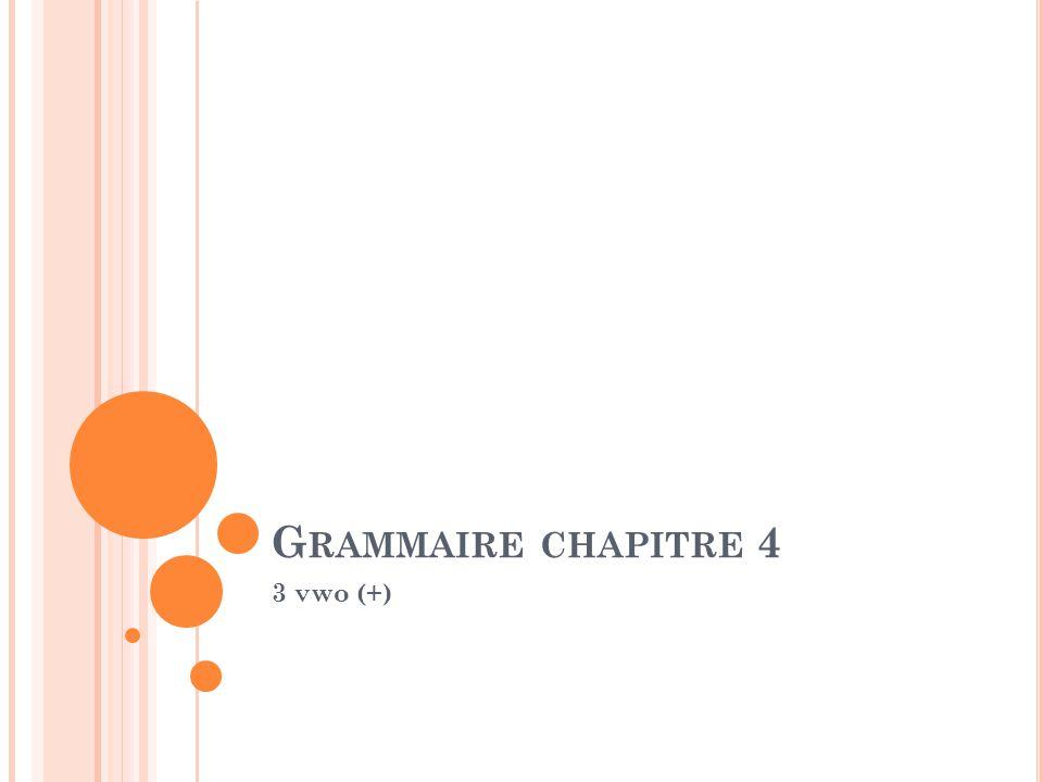 Grammaire chapitre 4 3 vwo (+)