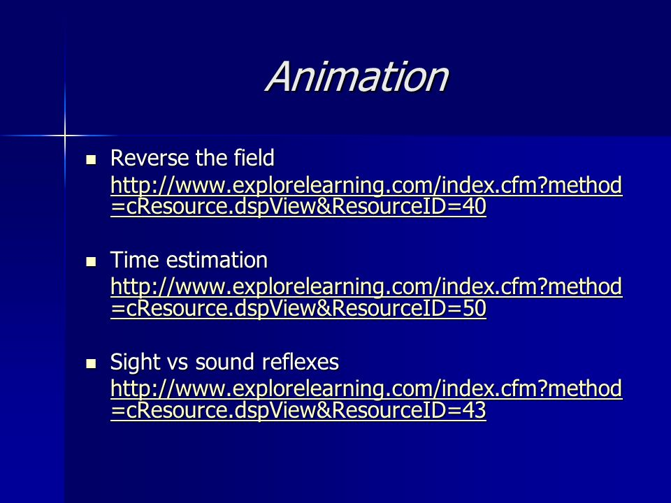 Animation Reverse the field