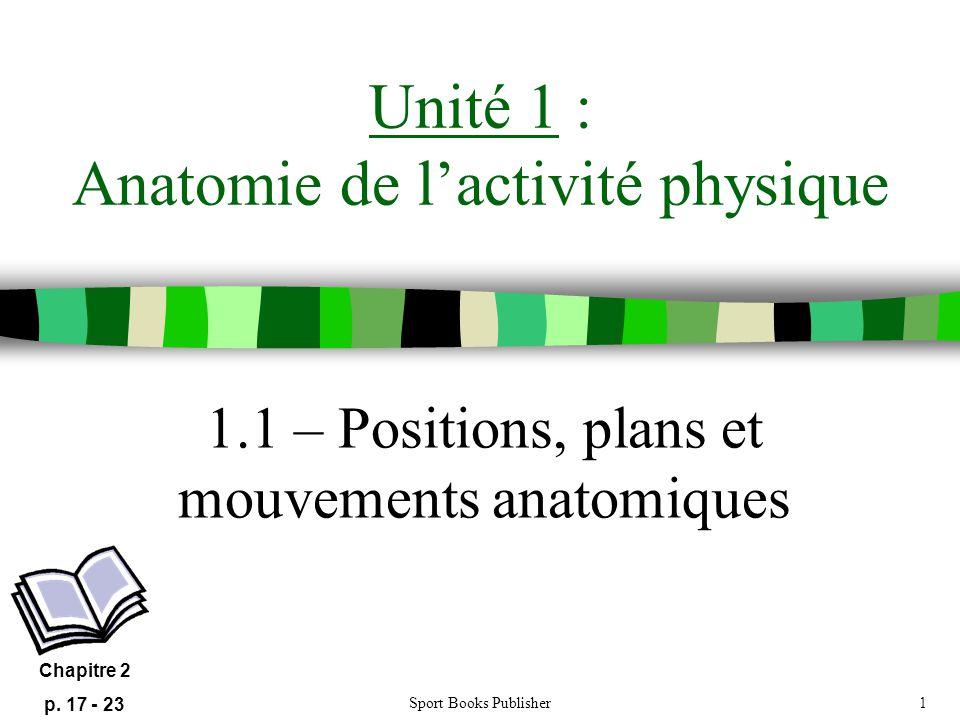 Unité 1 : Anatomie de l'activité physique