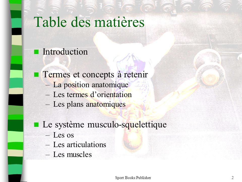 Table des matières Introduction Termes et concepts à retenir