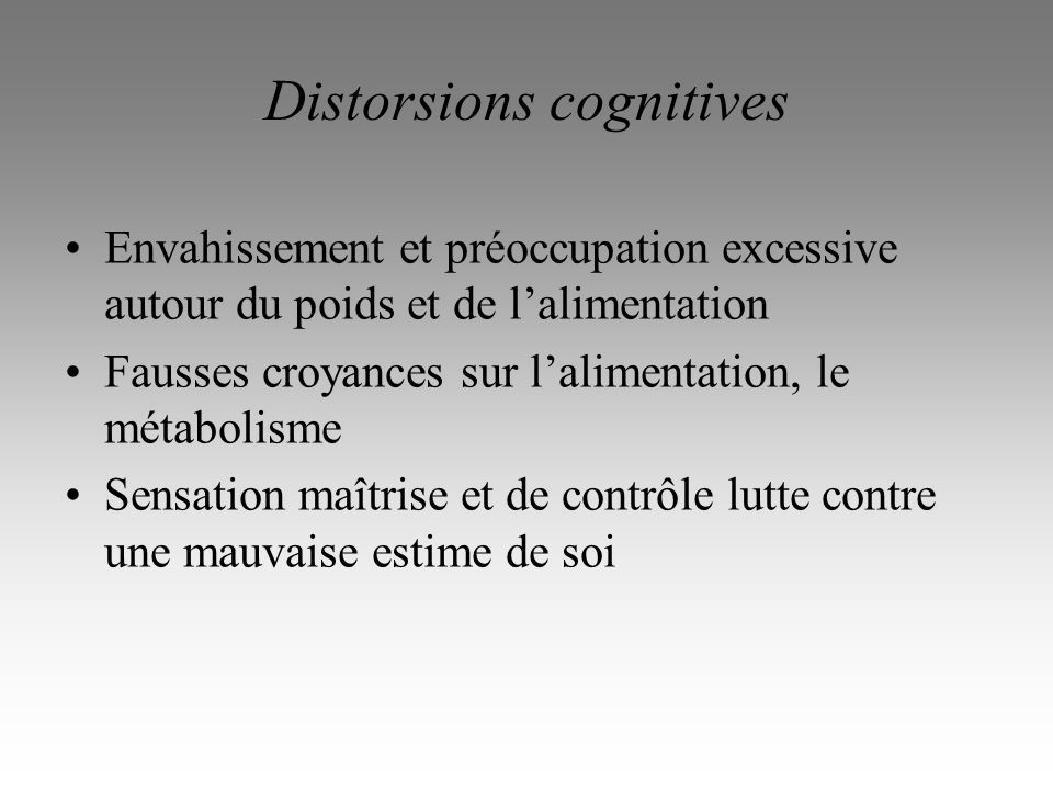 Distorsions cognitives