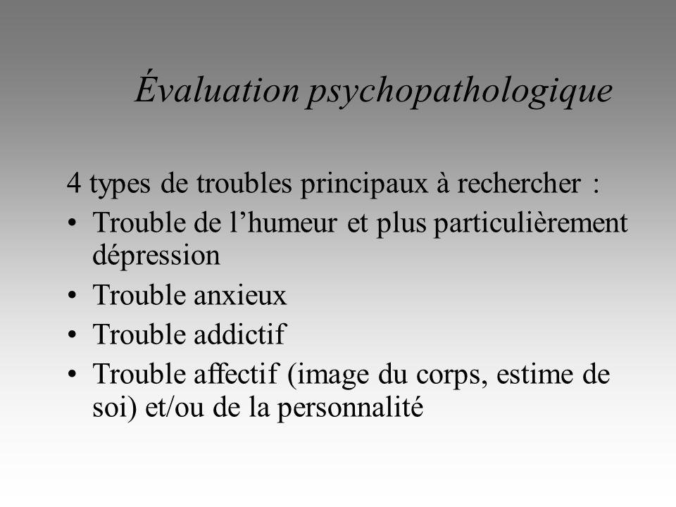 Évaluation psychopathologique