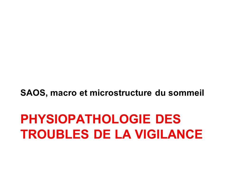 Physiopathologie des troubles de la vigilance