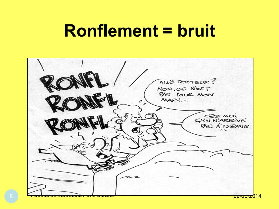 Ronflement = bruit Faculté de Médecine Paris Diderot 31/03/2017