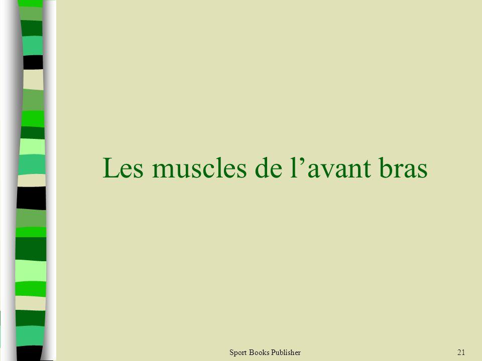 Les muscles de l'avant bras