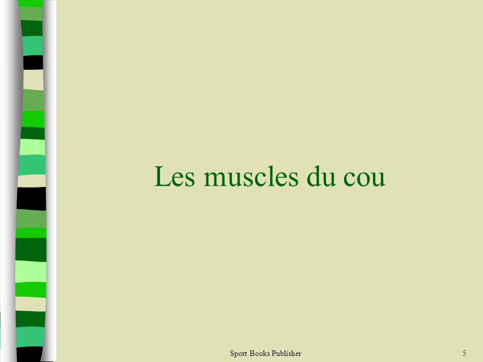 Les muscles du cou Sport Books Publisher