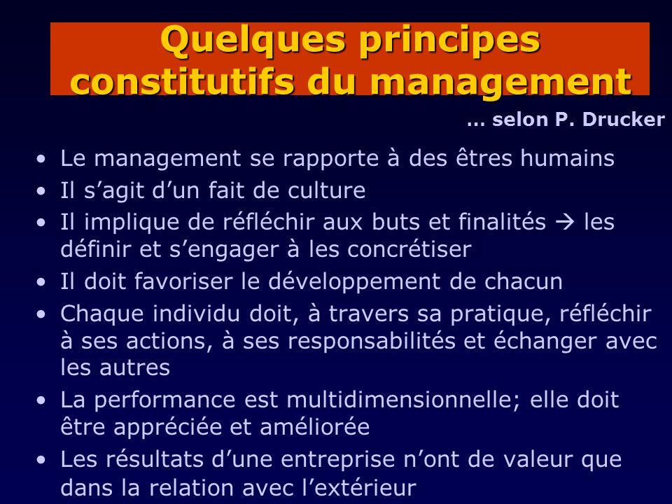 Quelques principes constitutifs du management