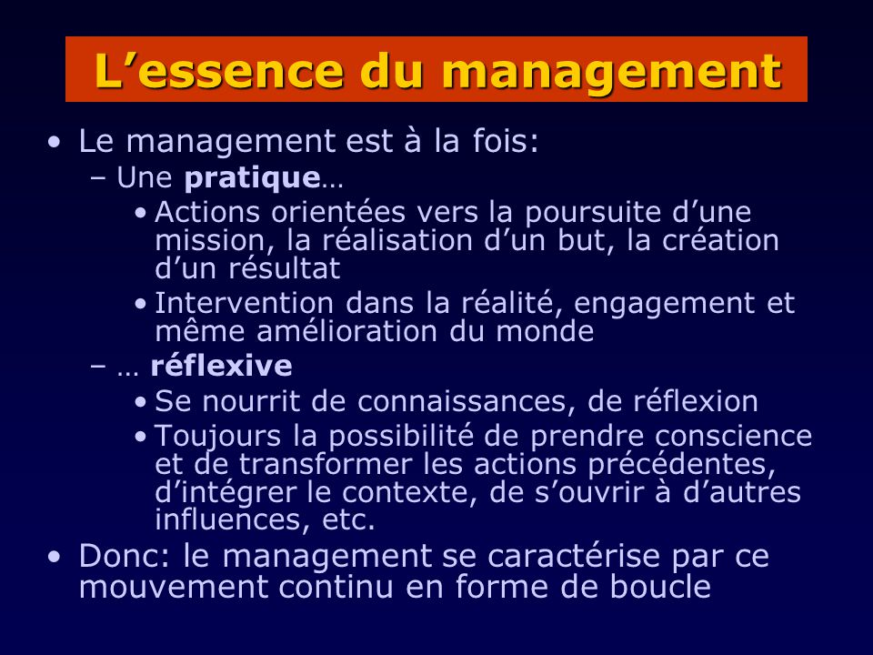 L'essence du management