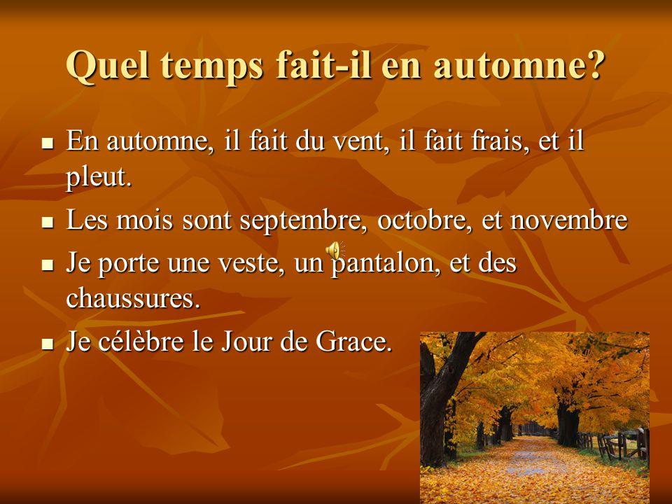 Quel temps fait-il en automne