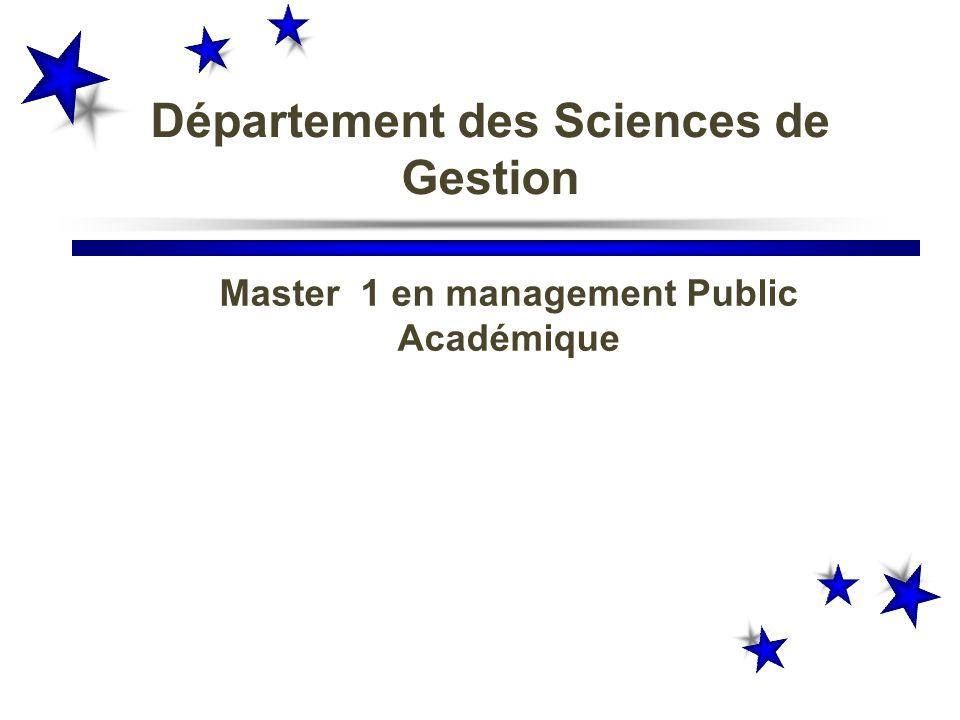 Département des Sciences de Gestion