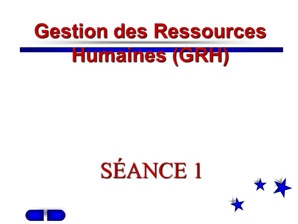 Gestion des Ressources Humaines (GRH)