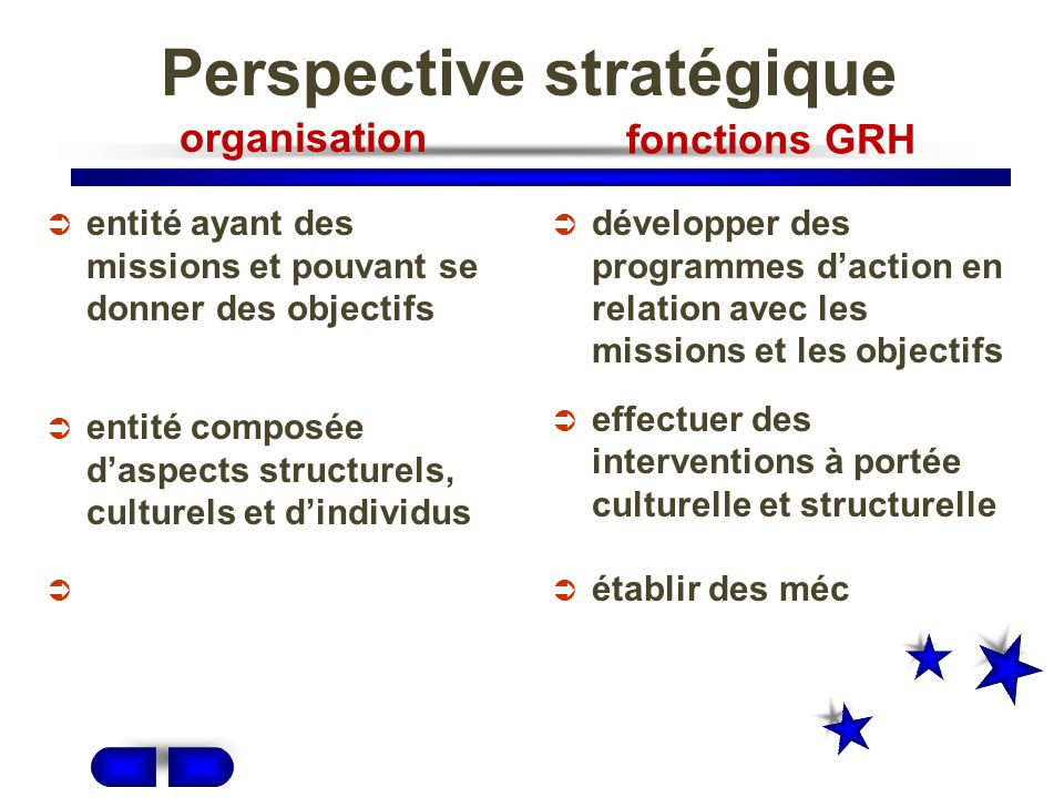 Perspective stratégique