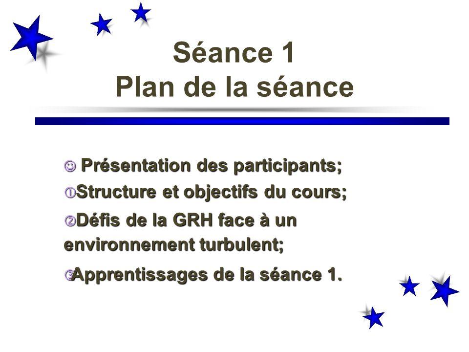 Séance 1 Plan de la séance