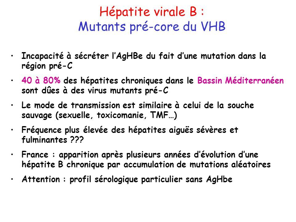 Mutants pré-core du VHB