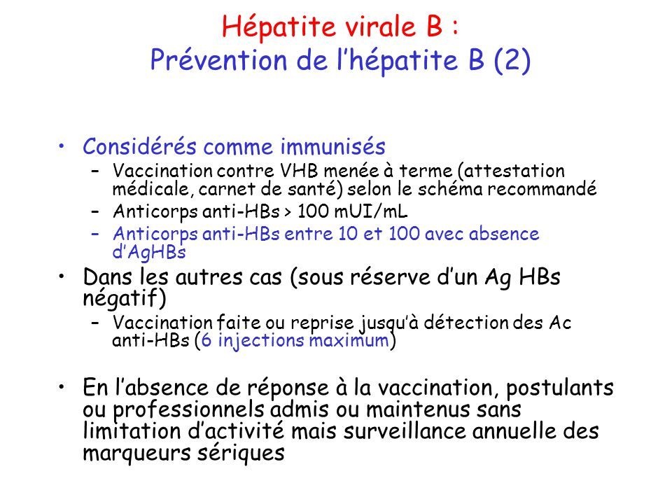 Prévention de l'hépatite B (2)