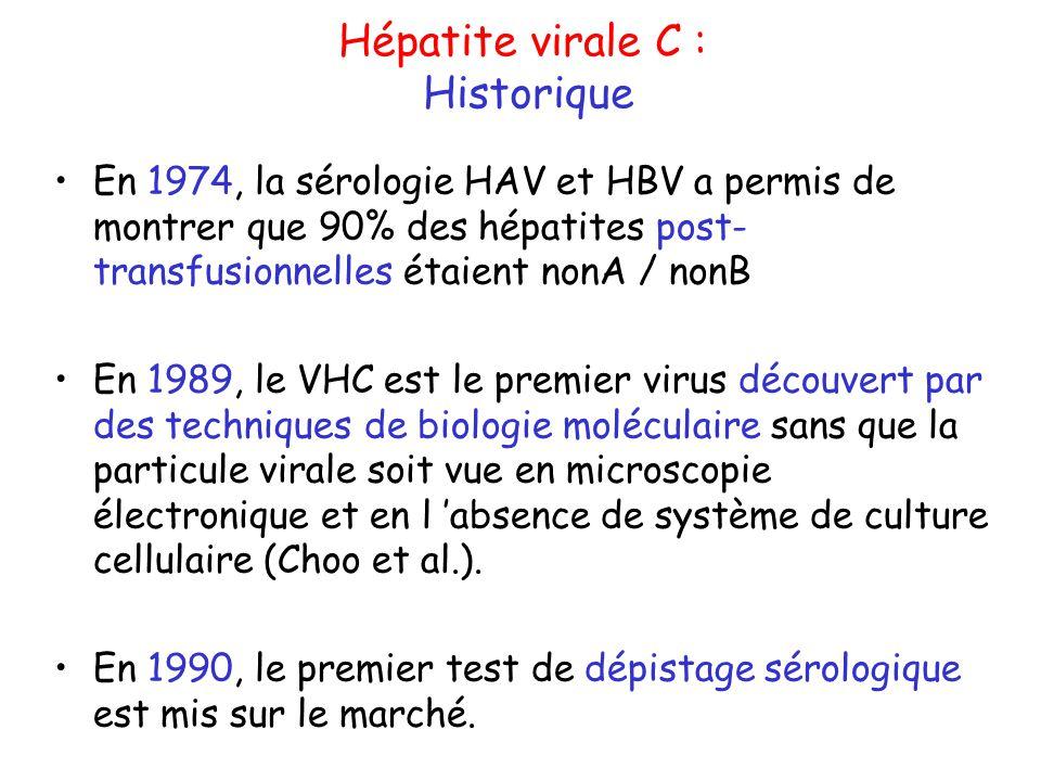 Hépatite virale C : Historique
