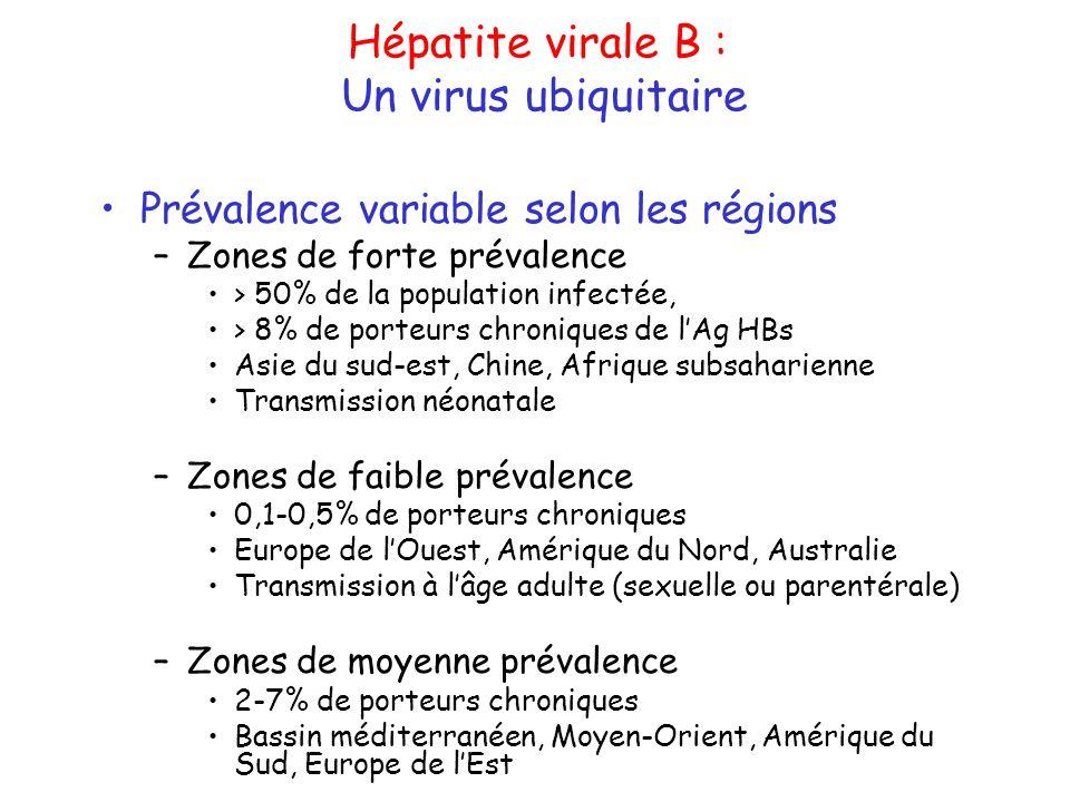Hépatite virale B : Un virus ubiquitaire