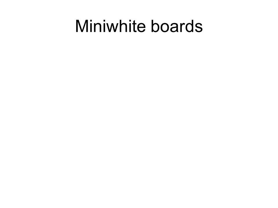 Miniwhite boards