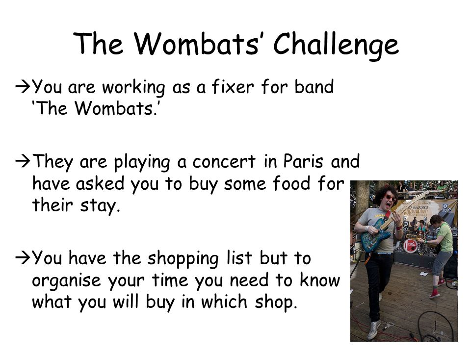 The Wombats' Challenge