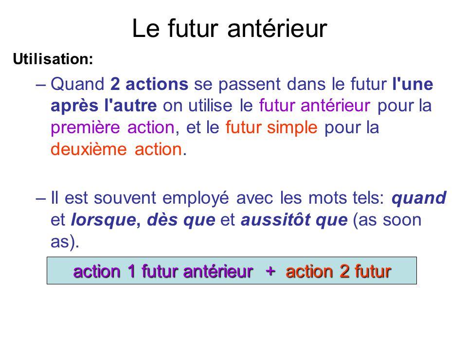 action 1 futur antérieur + action 2 futur