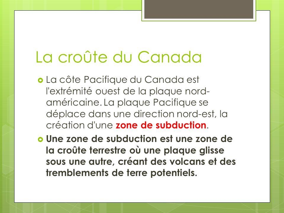 La croûte du Canada