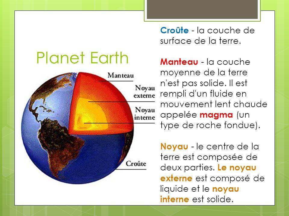 Planet Earth Croûte - la couche de surface de la terre.