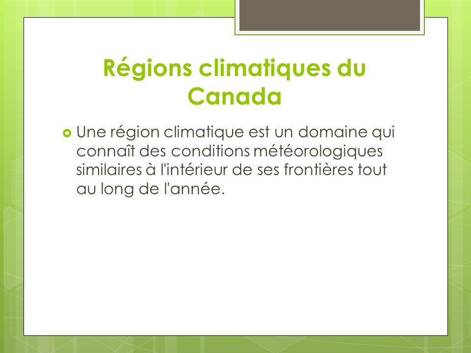 Régions climatiques du Canada