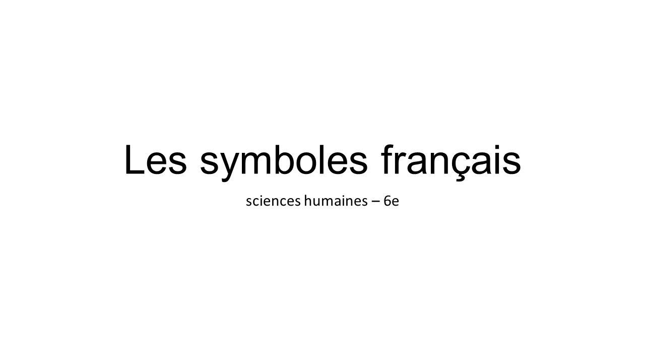 Les symboles français sciences humaines – 6e