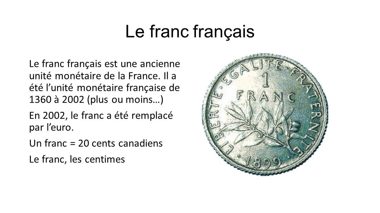 Le franc français