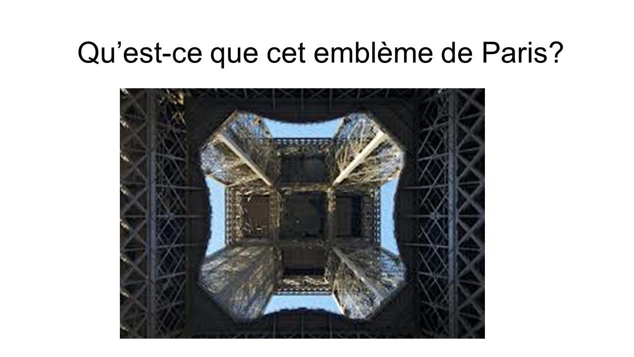 Qu'est-ce que cet emblème de Paris