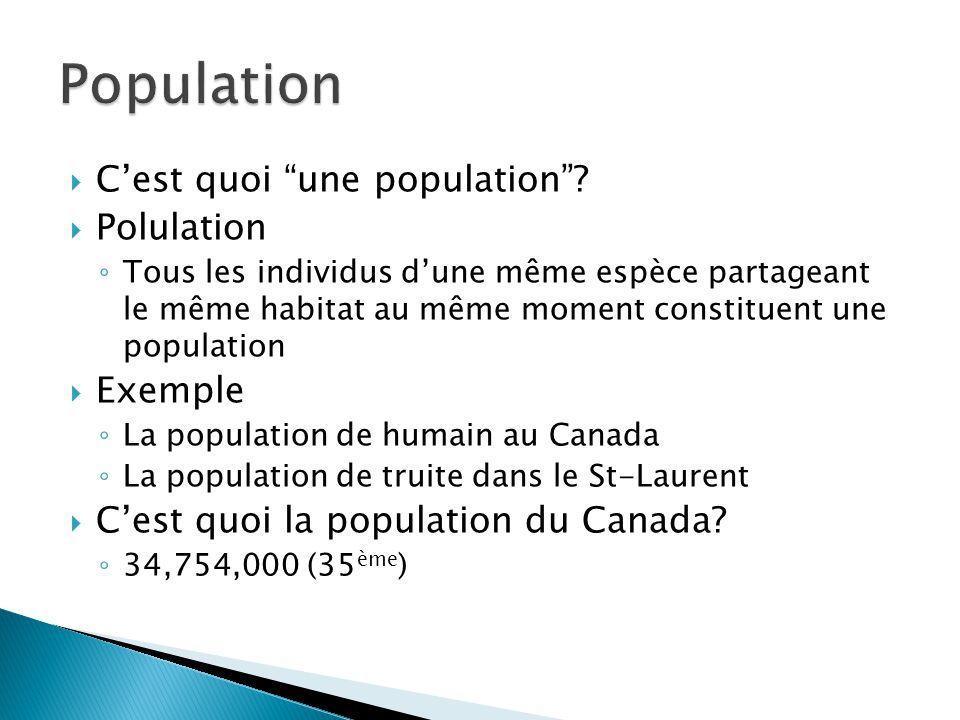 Population C'est quoi une population Polulation Exemple
