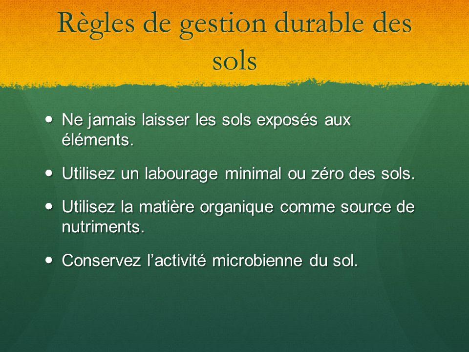 Règles de gestion durable des sols