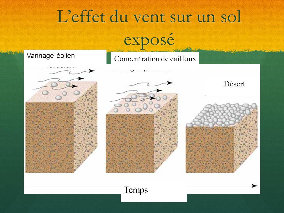 L'effet du vent sur un sol exposé