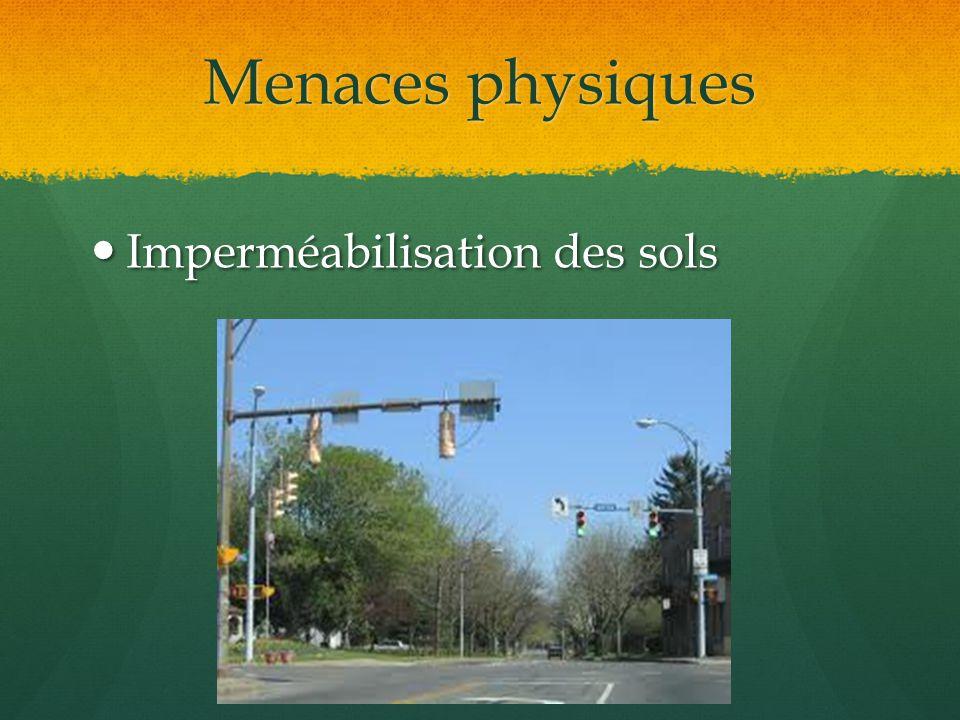 Menaces physiques Imperméabilisation des sols