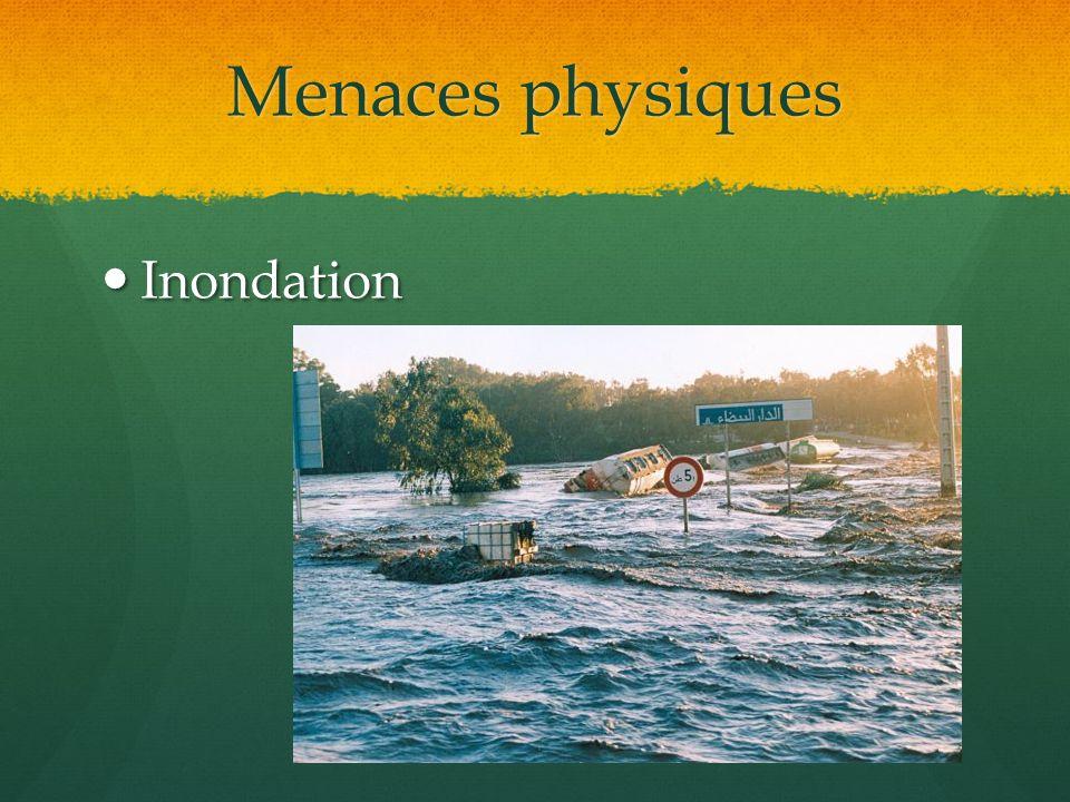 Menaces physiques Inondation