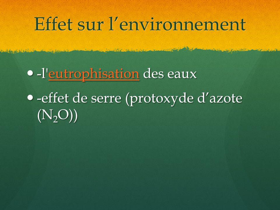 Effet sur l'environnement