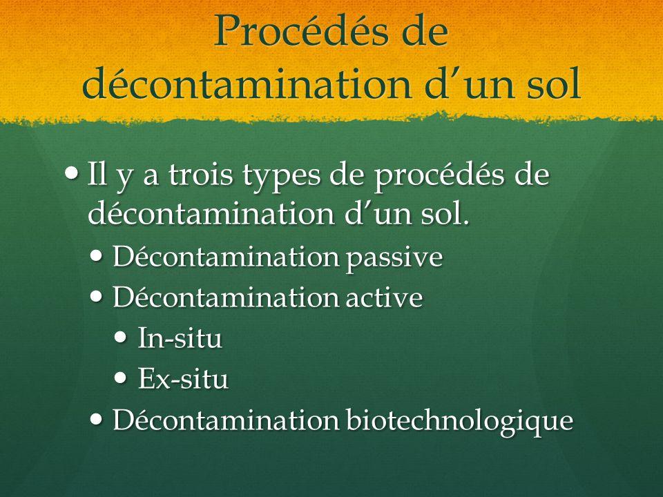 Procédés de décontamination d'un sol
