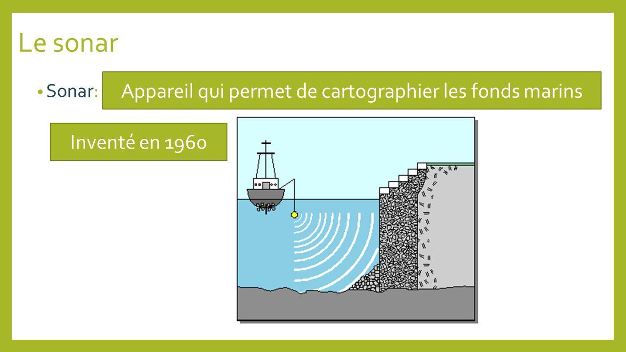 Appareil qui permet de cartographier les fonds marins
