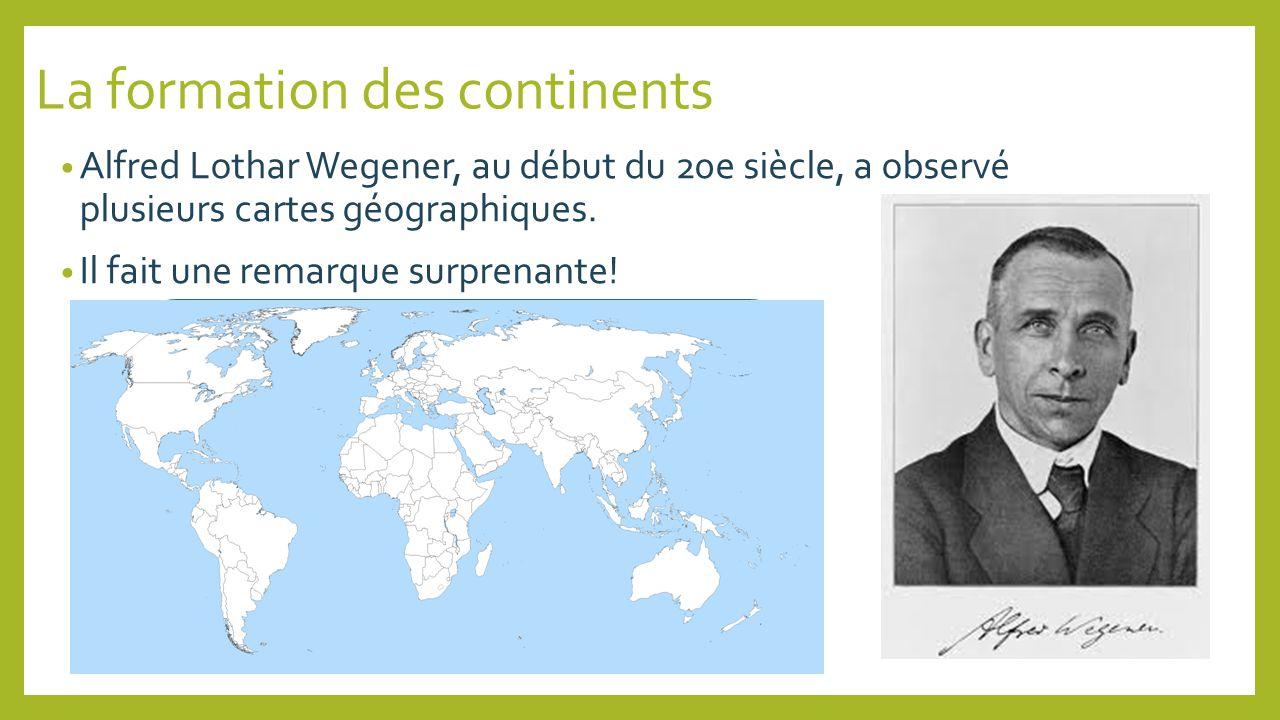 La formation des continents