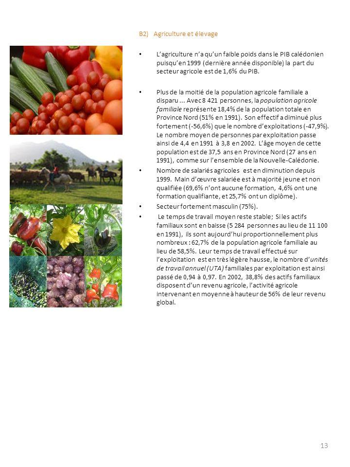 B2) Agriculture et élevage