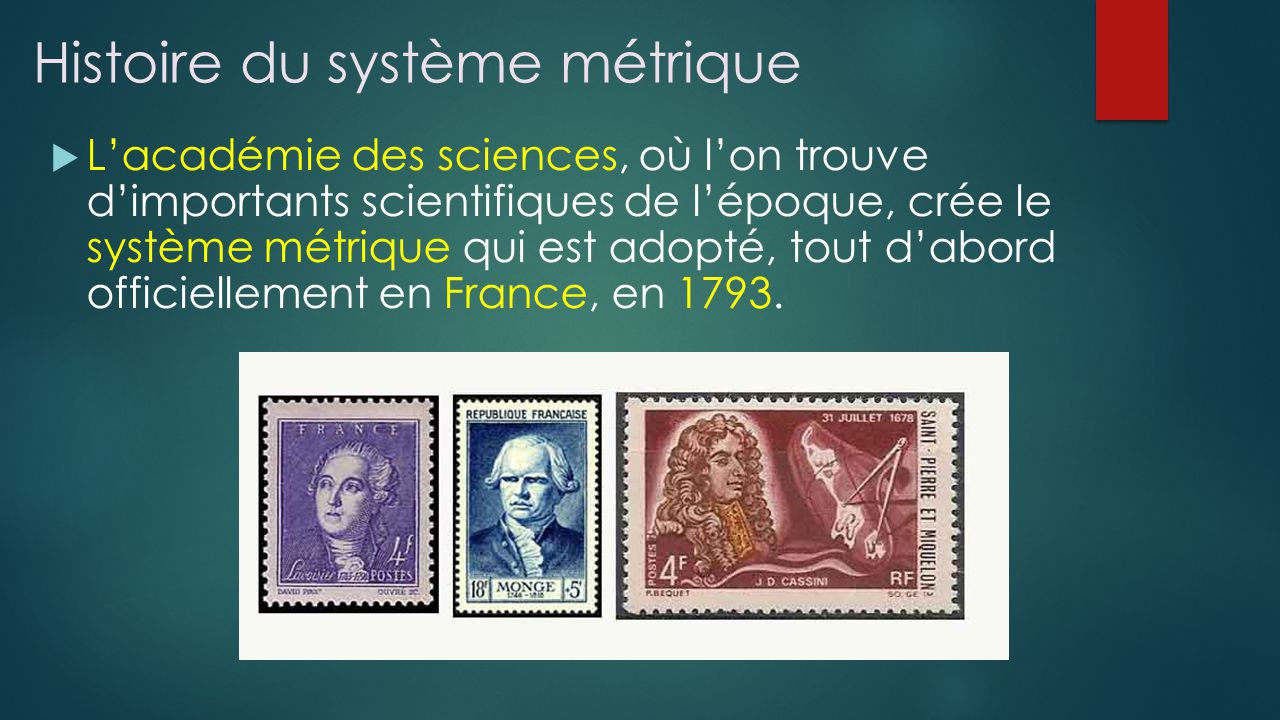 Histoire du système métrique
