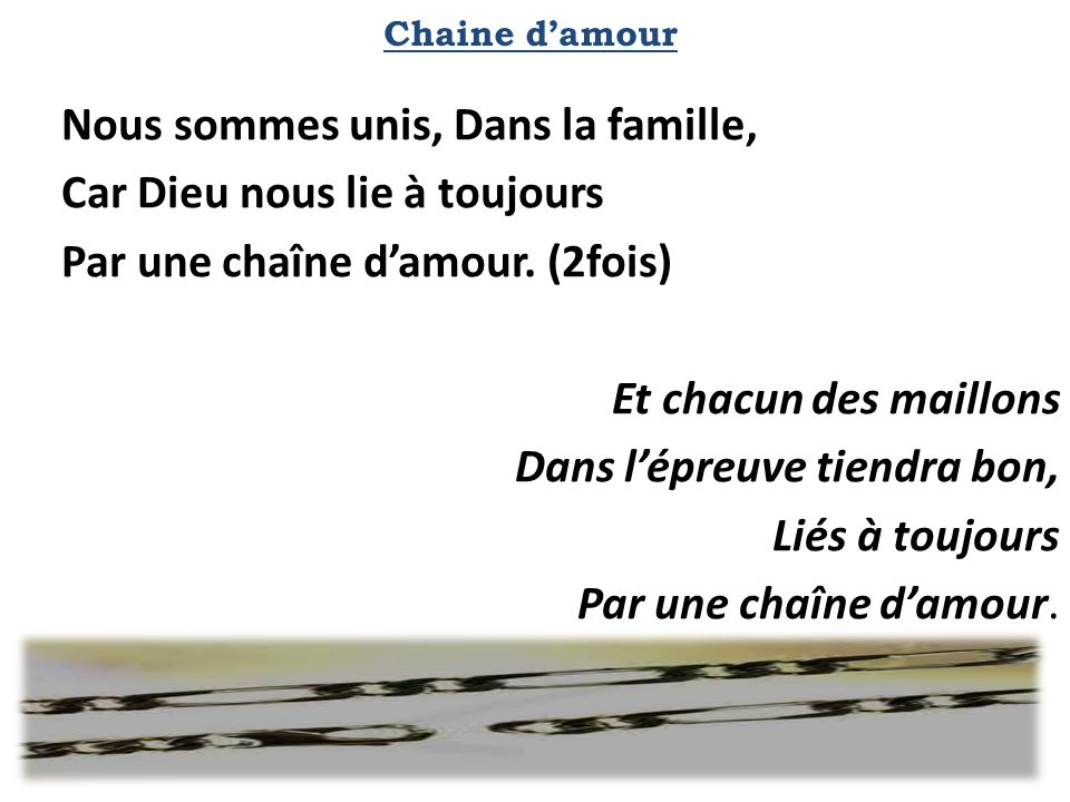 Chaine d'amour